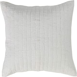 VHC Brands Farmhouse Boho & Eclectic Bedding-Rochelle Quilted Euro Sham, King, Creme