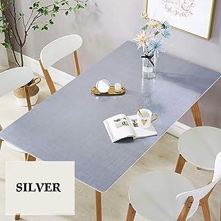 HYZXK Protecteur de Table en Plastique imperméable Rectangle, Couverture de Table en Vinyle Anti-éclaboussures épaisse, Ta...
