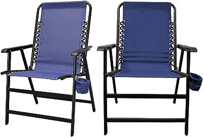 Amazon Com Devoko Patio Folding Chair Deck Sling Back