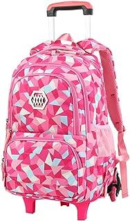 VBG VBIGER Rolling Backpack for Girls Wheeled Backpack Trolley School Bag Travel Luggage