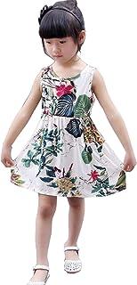 Lisa Pulster 子ども服 女の子 キッズ 花柄 ワンピース 小学生 ガールズドレス ゆったり オシャレ 娘 春秋 夏 祭り 旅行 ふんわり 大きいサイズ