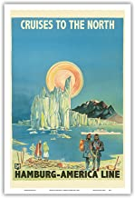 Cruises to The North - North Pole and The Arctic - Hamburg-American Line HAPAG - Vintage Ocean Liner Travel Poster by Albert Füss c.1936 - Master Art Print - 12in x 18in