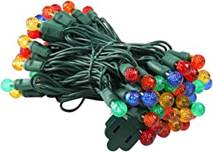UZEXON Commercial G12 Led Christmas Lights Outdoor Indoor Multicolor Tree Lights,17Ft 50 Mini Globe Ball String Lights for Home Bedroom Patio Garden Wedding Holiday Party Halloween Xmas Mood Lighting