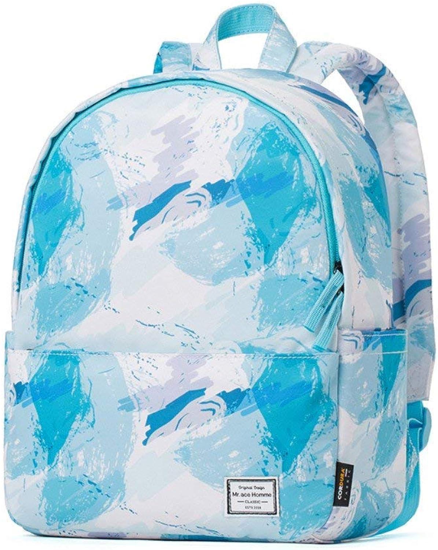 Ladies' Shoulder Bag Female Schoolbag Fashion School Wind Student Travel Computer Knapsack,bluee (color   bluee)