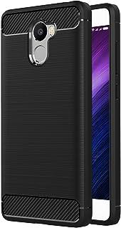 MaiJin シャオミ Xiaomi Redmi 4 (5インチ) 衝撃吸収 ケース スリム 軽量 炭素繊維TPU保護カバー (ブラック)