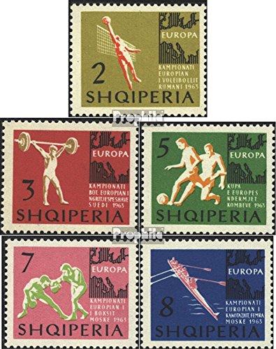 Prophila Collection Albania 763-767 (Completa Edizione) 1963 Campionati Europei (Francobolli per i Collezionisti) Altri Sport