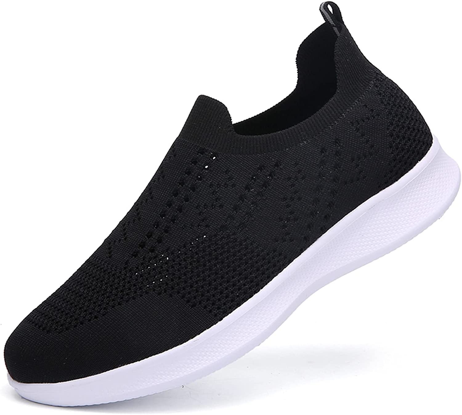Dreamyam Couple Fashion Walking Sock Shoes Slip on Mesh Air Cushion Lightweight Comfortable Easy Sneakers Shoes Loafers