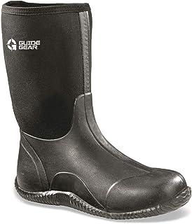 Men's Mid Bogger Waterproof Rubber Boots, Black
