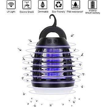 Haofy Bug Zapper, 2 in 1 Anti-zanzara e Tenda da Campeggio IP67 Antipioggia, Ricarica USB, Illuminazione Esterna Non ha Paura della Pioggia, LED Anti-zanzara ha Motore Potente, Non tossico, Sicuro