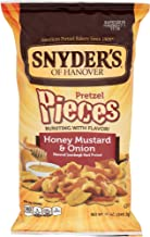 Snyder's of Hanover Pretzel Pieces, Honey Mustard & Onion, 12 Ounce (Pack of 12)
