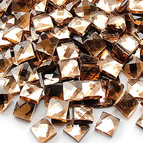 EKYJ Azulejos de Mosaico Artesanías de Azulejos de Cristal de Cristal Cuadrado Transparente Bricolaje Decoración del hogar Manualidades de Bricolaje (Color : 5)