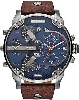 Diesel Mr. Daddy 2.0 Men'S Blue Dial Leather Band Watch Dz7314 Japanese Quartz Analog