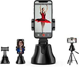 BORKA 360°Rotation Selfie Stick Camera Phone Mount, Auto Face Object Tracking Smart Shooting Camera Phone Mount Travel Sho...