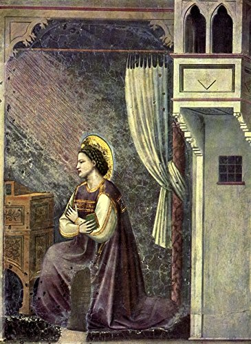 Posterazzi Old Masters 1900 Mary from the Annunciation (mural) Poster Print by Giotto, (24 x 36)