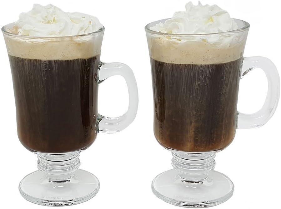 Irish Coffee Glass Mugs Footed Regal Shape of oz. 2 8 Set Price Max 88% OFF reduction