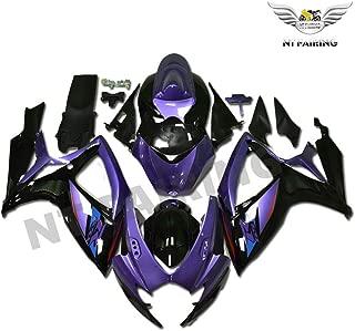 NT FAIRING Purple Black Fairing Fit for Suzuki K6 2006-2007 GSXR 600 750 New Injection Mold ABS Plastics Bodywork Body Kit Bodyframe Body Work 06 07