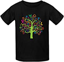 Heeloo Boy's Girl's Alphabet Tree Personalized T Shirt