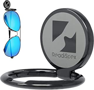 ReadiSpex Eyeglasses and Sunglass Holder for Car Dash | Premium Metal-Alloy Sunglasses Holder for Car, House, Boat, RV, or Truck | Adheres Securely to Nearly Any Surface