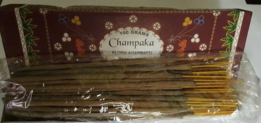 用心する騒々しい市民Champaka Agarbatti Incense Sticks 100グラムFlora Incense Agarbatti