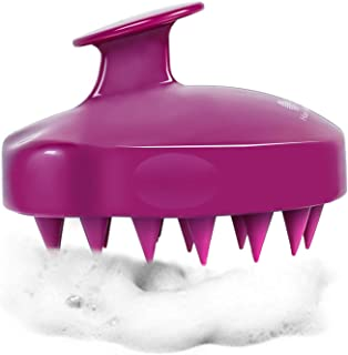 HEETA Scalp Massager, Updated Hair Shampoo Brush for Wet and Dry Hair, Scalp Massage Brush for Women, Men and Pet (Purple ...