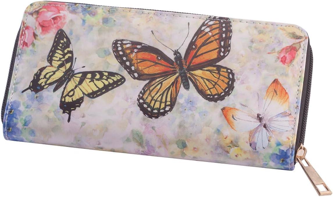 Designer Wallet OFFicial mail order Max 42% OFF Butterflies