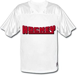 LHT Men's Hockey American Football Jerseys White