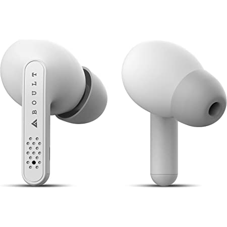 Boult Audio AirBass Propods True Wireless in-Ear Earphones with 24H Total Playtime, Touch Controls, Type-C Fast Charging, IPX5 Sweatproof, Low Latency for Gaming (White)