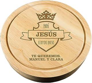 Regalo Personalizado: Tabla de quesos para 'el Rey del Queso' grabada con su Nombre y la dedicatoria Que tú Quieras