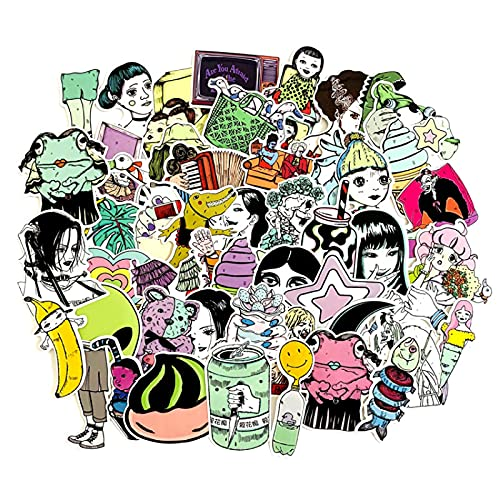 LMY Nuevo Th Pegatinas de dibujos animados Riller Japonés Comics Personalizado Pvc Impermeable Graffiti Decoración Pegatinas Motocicleta Portátil Copa Agua Guitarra Casco Pegatinas 50 unids
