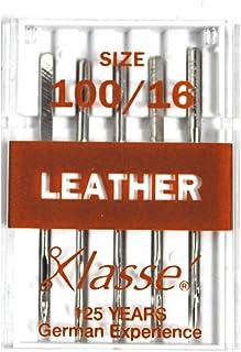 Klasse de máquina de coser piel agujas 100/16: Amazon.es: Hogar