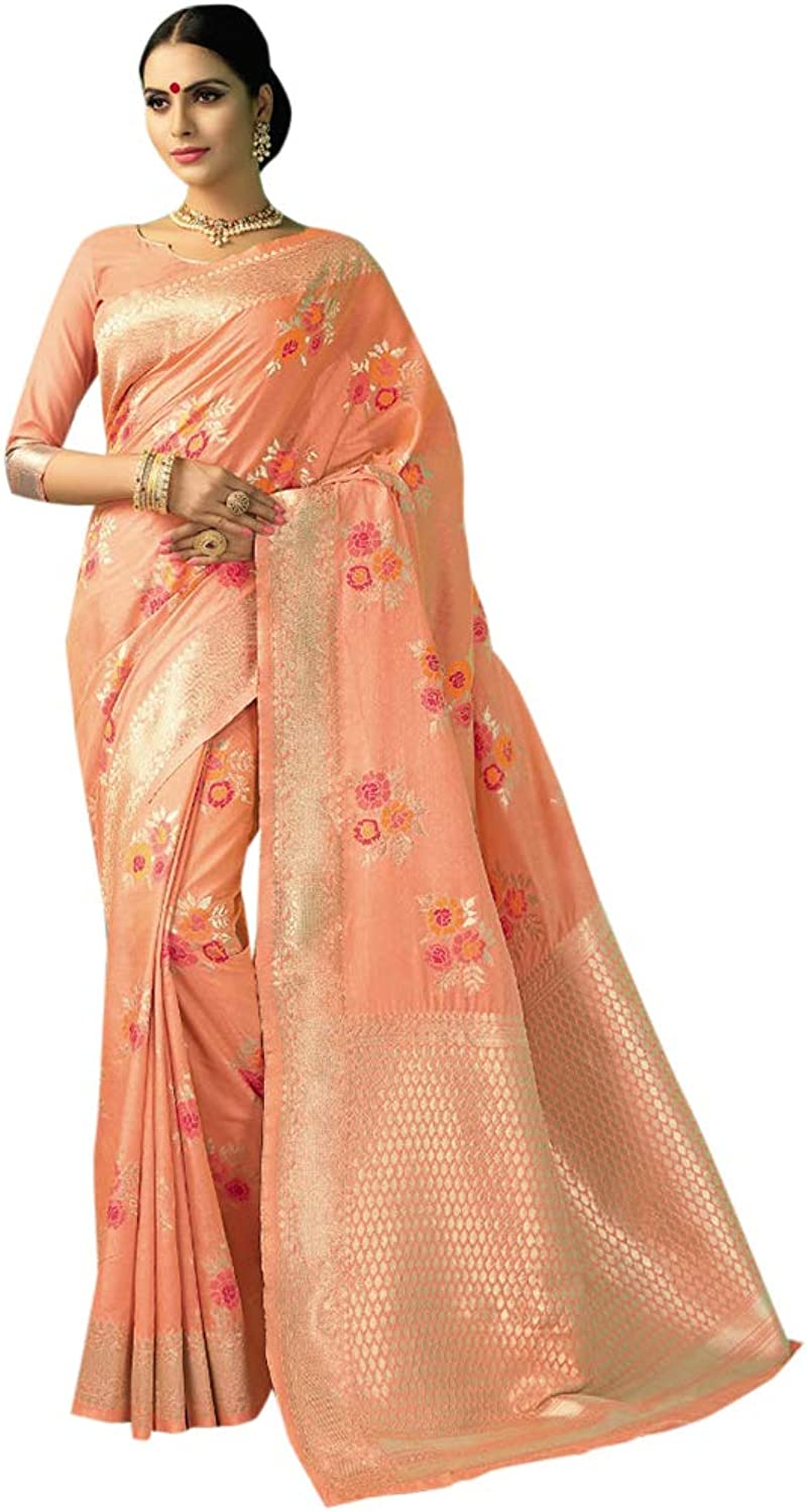 Designer Handwoven Chanderi Silk Sari with Blouse for Women Indian Ethnic Party wear Saree 7629