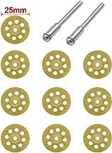 ZHTY 10pcs Disco abrasivo de Diamante Discos de Diamante Disco Circular de Corte Disco abrasivo Sierra para Herramienta rotativa Dremel