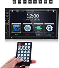 Qiilu 7 pulgadas Reproductor MP5 de coche Pantalla Táctil HD Bluetooth GPS Radio FM Vídeo Estéreo USB AUX Control Remoto para coche