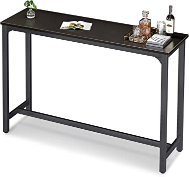 """ODK 55"""" Bar Table, Bar Height Pub Table 39'' Tall, Rectangular High Top Kitchen & Dining Tables with Sturdy Legs & Easy-to-Cl"""