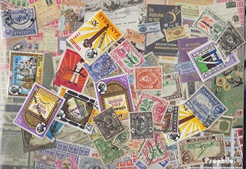 Zanzibar 100 différents Timbres (Timbres pour Les collection