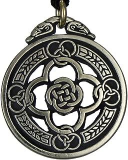 Pewter Celtic Knot Warrior Quatrefoil Shield Pendant