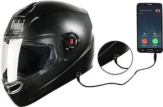 Steelbird SBA-1 HF Dashing Full Face Helmet with Plain Visor and Handsfree Device (BLACK, 600MM)