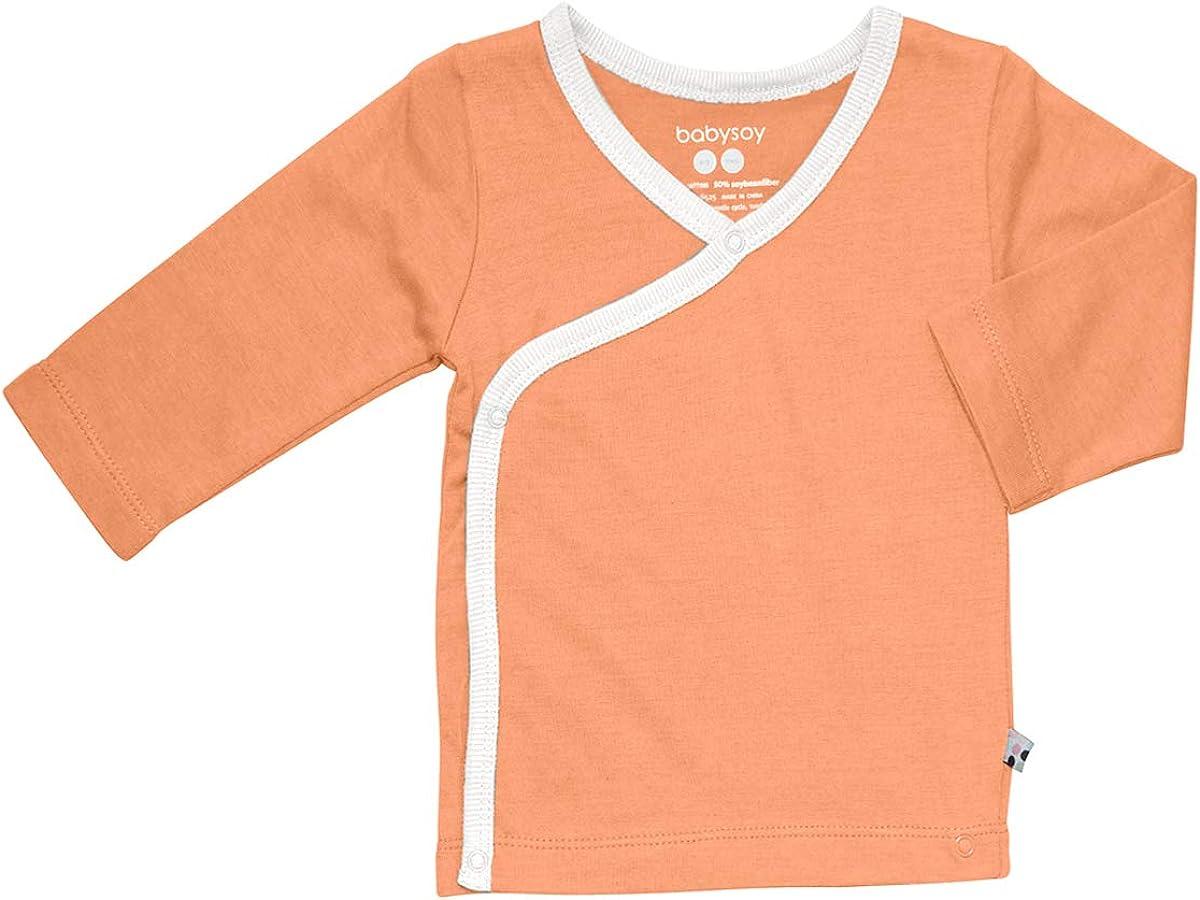 Babysoy Kimono Layering Memphis Mall Max 87% OFF Tee Tops Months 18-24 Cantaloupe