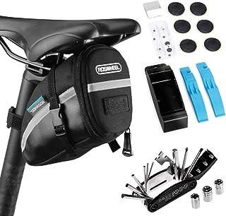 Lixada Bolsa de Sillín para Bicicleta con Herramientas de Reparación 14/16 en 1 Multifuncional Kit Pinchazos Bicicleta