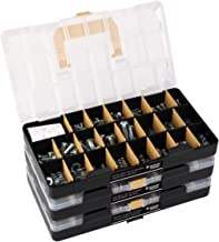 """Deluxe Hardware Assortment Kit with Professional""""No Mix"""" Case (1,300 Piece, 60 Sizes, Nuts, Bolts, Washers & Screws)"""