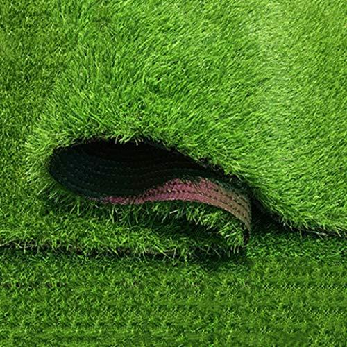 LIYG Kunstrasen, Stapel-Höhe 30 mm, hohe Dichte Ferienkunstrasen, Natur Realistisch Garten Haustier Grasmatte (grün) (Size : 2mx0.5m)