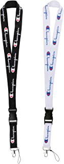 Lanyard with Hook and Buckle, Street Fashion Neck Lanyard for Keys Phones ID Badge Holder Bags Accessories - 2 Pack