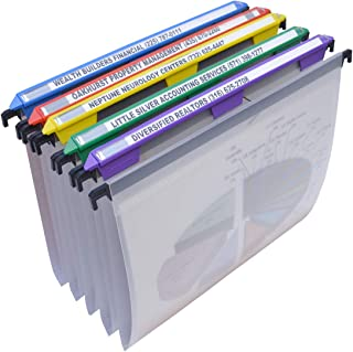 Ultimate Office MagniFile Hanging File Folders V- Bottom Letter Size with 11 inch Magnified Indexes That Double The Size o...