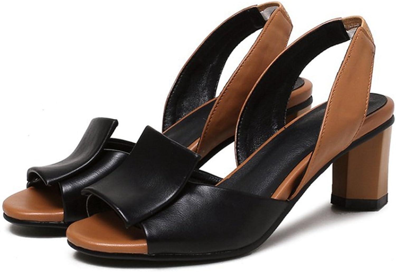 GIY Women's Peep Toe Chunky High Heel Platform Sandals Anti-Slip Block Heel Party Dress Pumps shoes