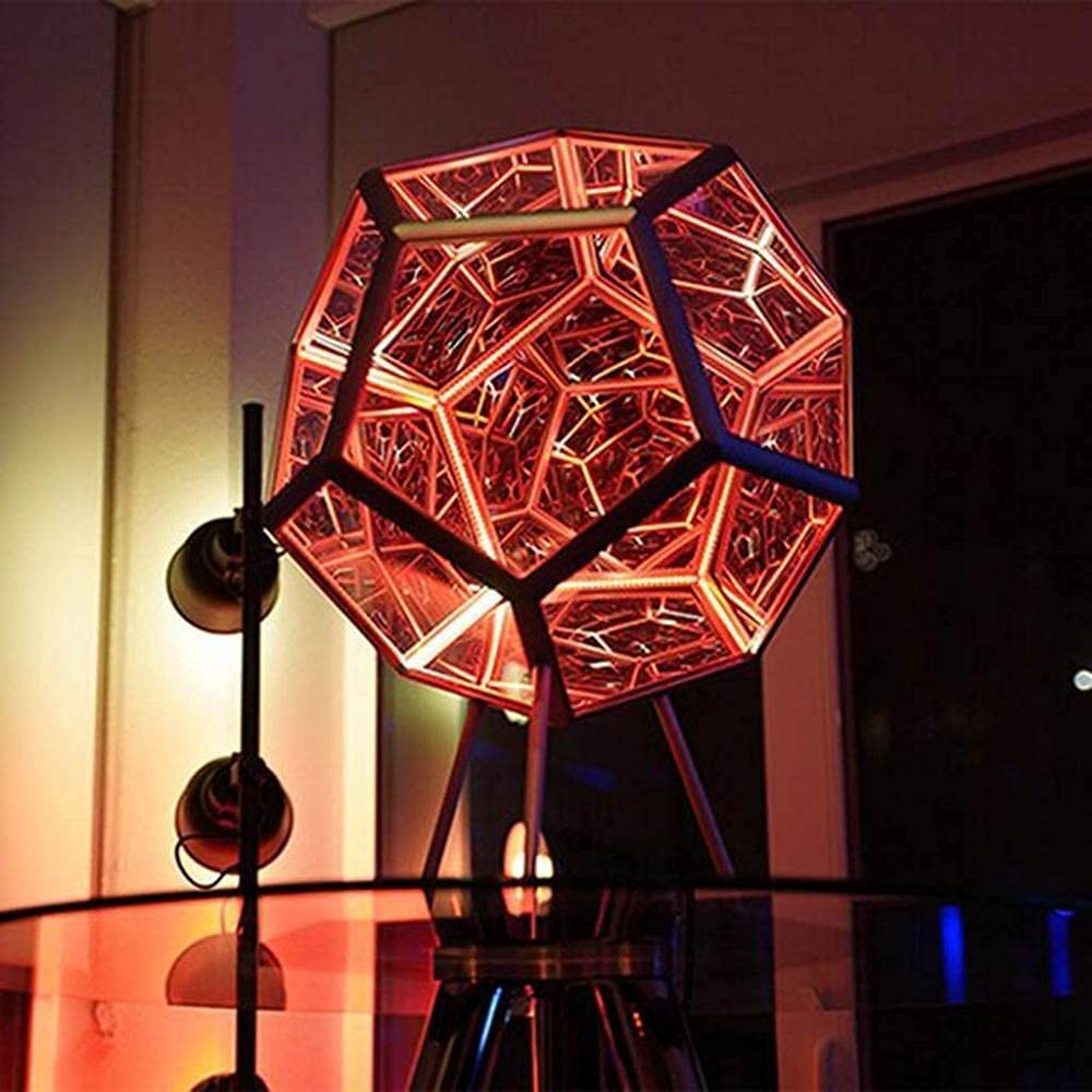 rewikie Infinite Dodecahedron Color Light Art Max 62% OFF Light,Color Very popular