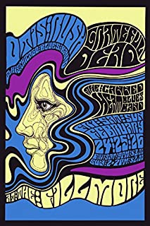 Rock and Roll Music Concert Fillmore Bands. Grateful Dead. Canned Heat, Otis Rush, Chicago Blues Band Vintage Poster Repro 16