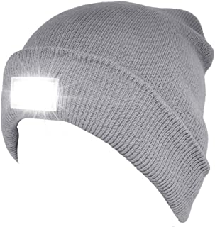 UVER Best Sellers 5 LED Beanie Hat with Light, Gift for Men and Women Winter Knit Lighted Headlight Hats Headlamp Torch Sk...