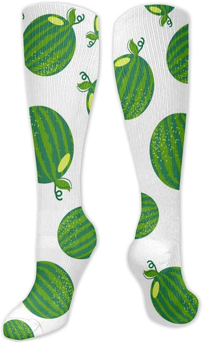 Green Seamless Watermelon Knee High Socks Leg Warmer Dresses Long Boot Stockings For Womens Cosplay Daily Wear