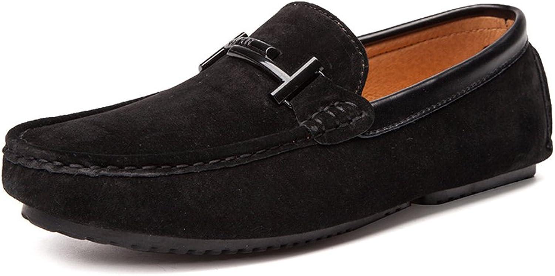 YJiaJu Müßiggänger Schuhe, Indoor & Outdoor Driving Mokassins Echtes Leder Vamp Penny Weiche Sohle Müßiggänger Für Männer (Farbe   Schwarz, Größe   43 EU)  | Realistisch