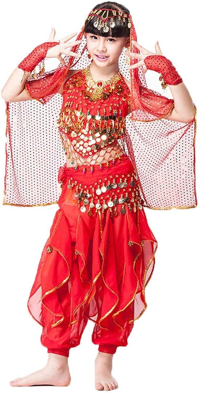 CX Kinder Bauchtanz Set Kostüme Indian Dance Costumes Performance Shows Hosen B07PLKCN6G  Fairer Preis